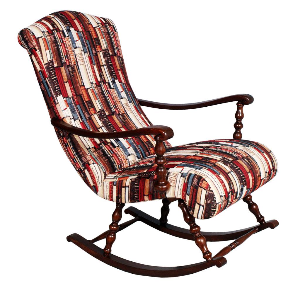 POLTRONA SEDIA A DONDOLO IN NOCE TORNITO victorian turned rocking chair  MA S52  eBay