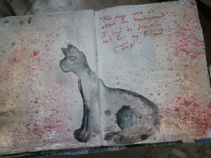 Cat painting in my journal