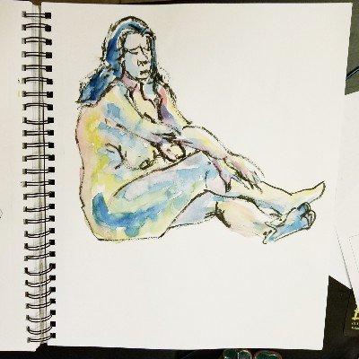#figuredrawing #lifedrawing #nudeart #sketch #sketchartist #sketching #drawing #inkbrush #brushpen #ilovemybrushpen #i<3brushpens #watercolor #watercolour #pinup #pinupartist #figuredrawing #drawinggirl