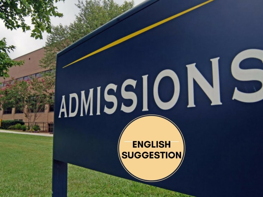 English Suggestion for University Admission Tests 1