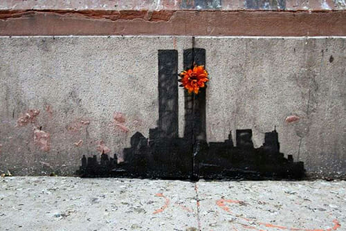"""9/11 Tribute"" by Banksy"