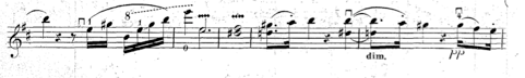Squiggle of vibrato in Spohr's Duo Op. 150