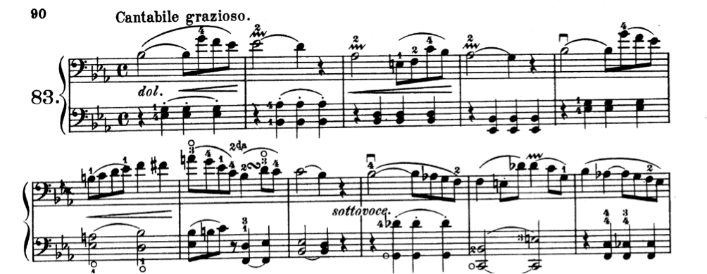 squiggle of vibrato in Kummer's exercise n. 83