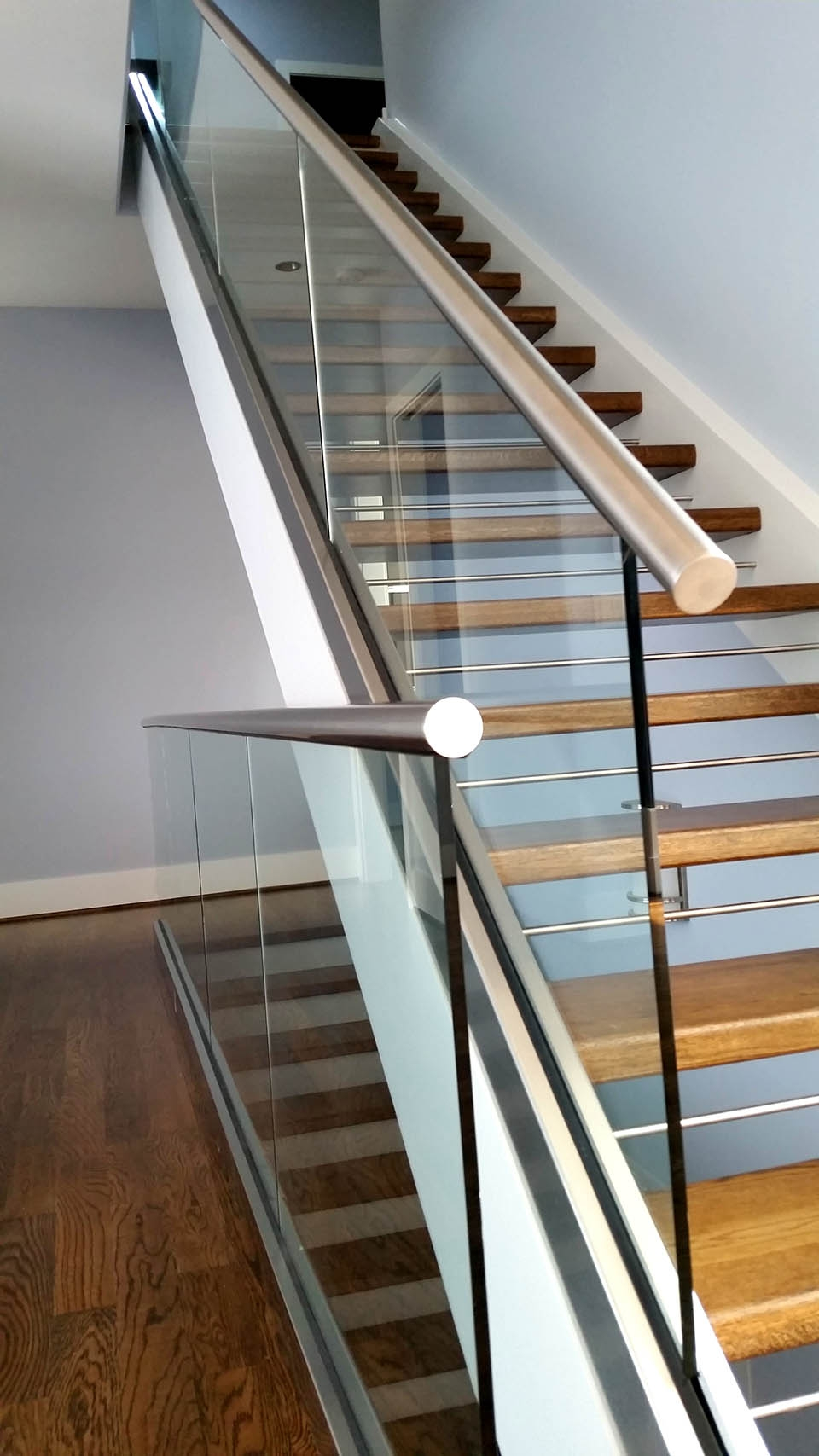 Glass Stair Railings Artistic Stairs Canada | Glass Balusters For Stairs