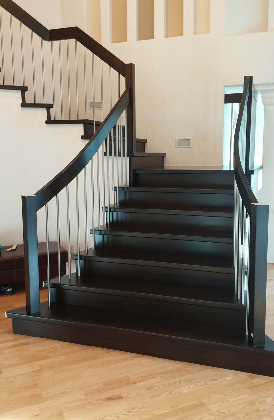 Modern Staircase Artistic Stairs Canada | Modern Stainless Steel Staircase Railing | Modular Steel | Hand | Crystal Handrail | Contemporary | Exterior
