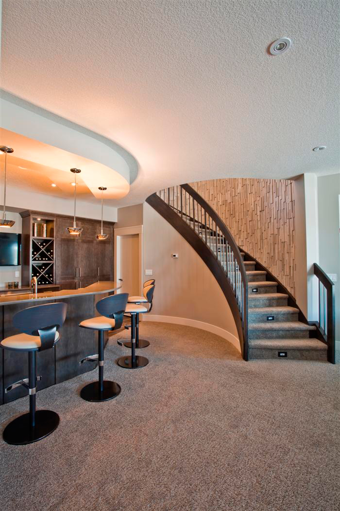 Curved Staircase  Wood and Metal Designs  Artistic Stairs Canada