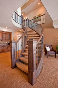 Curved Staircase - Wood and Metal Designs | Artistic ...