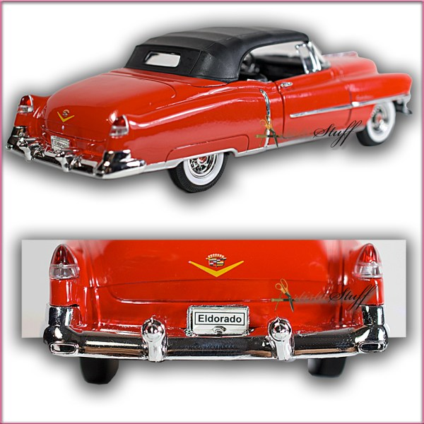 Welly 1953 Cadillac Eldorado Soft Top Red. 1 24 Scale