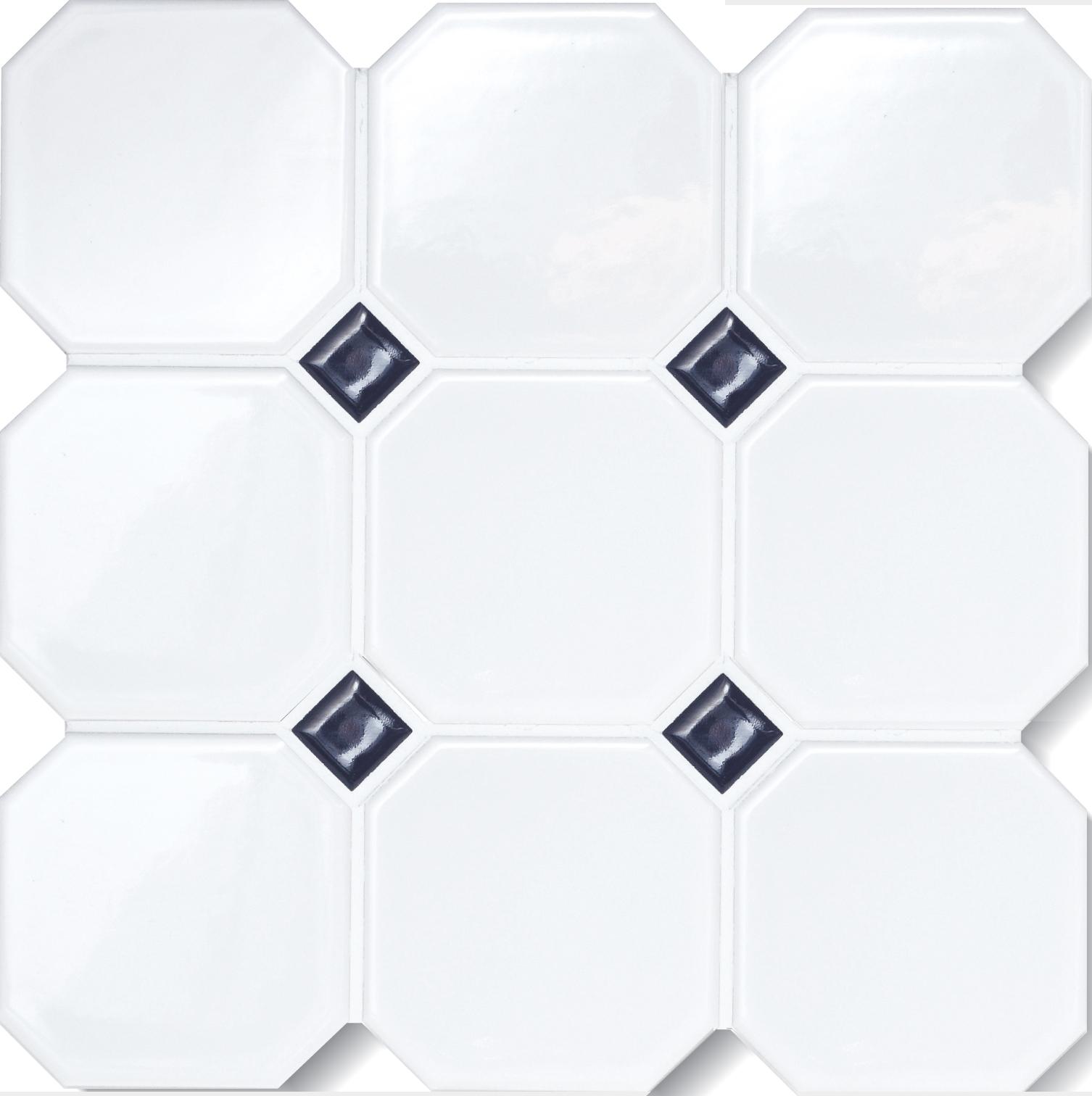 octagon matte white 4x4 octagon w o dots