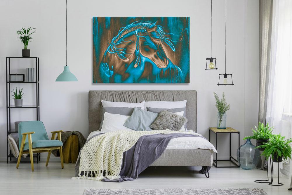 Large-horse-canvas-print-wild-lightening