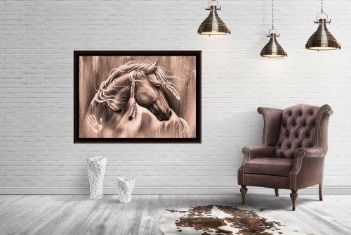 wild-spirit-large horse framed canvas print