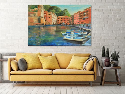 italian-coastal-village-art-print-wall-decor-ideas