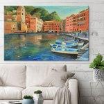 italian-coastal-village-art-print-wall-decor-ideas-7
