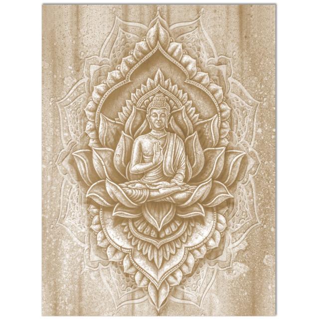 yoga symbols - buddha art