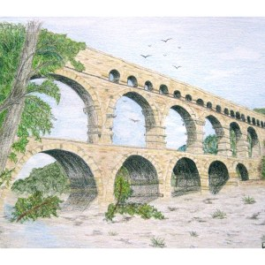 Double Bridge, Provencal, France 8″x 10″