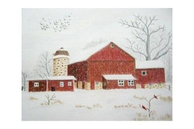 "Winter on the Farm 8""x 10"""