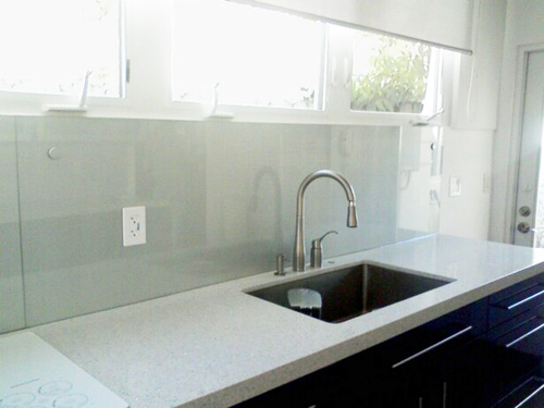 backsplash tiles kitchen contemporary cabinets chicago painted glass - artistry in