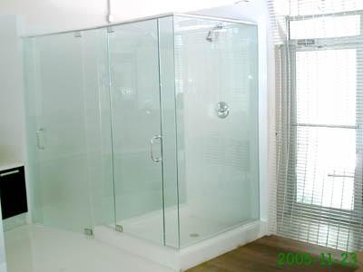 Shower toilet enclosure  Artistry In Glass