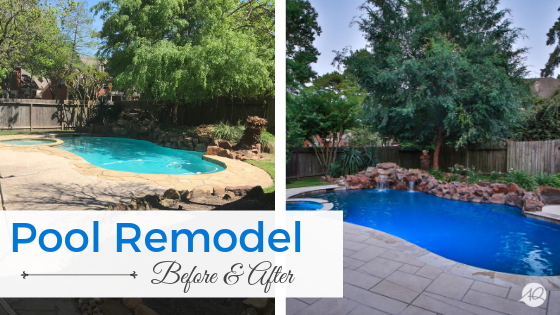 North Houston Pool Remodel Before After Pics Artistry Outdoors