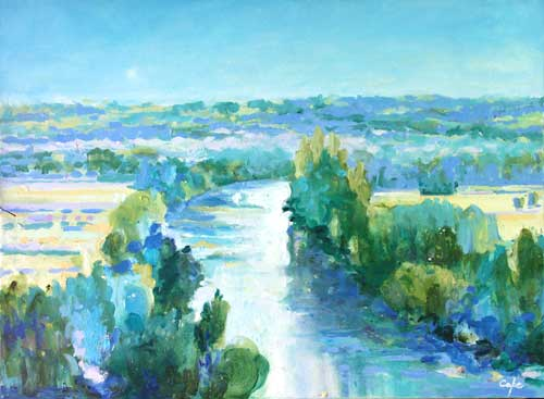 Paintings of Rivers  Dordorgne Vzre Lot Cl  Dropt