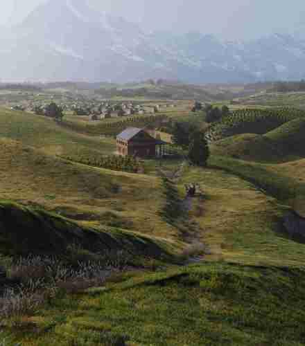 Rashed Abdullah rural plains environment art 3d concept artist