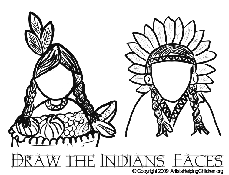 Pages Pilgrim Coloring Indian And