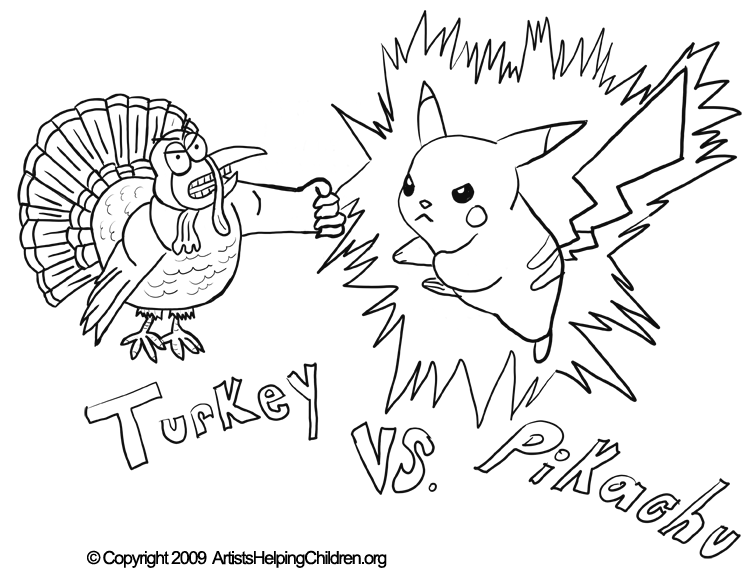 Thanksgiving Pikachu Fighting Turkey Crafts Activity Coloring Pages Printouts Activities Worksheets For Kids Free Thanksgiving Day Coloring Book Printables Coloring Sheets Pictures For Children To Celebrate Thanksgiving