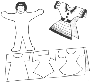 Paper Cut Out Dolls and Clothing Crafts for Kids & Girls