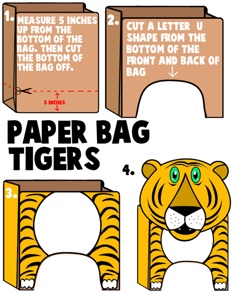 Tiger Crafts For Kids Ideas To Make Tigers With Easy Arts And Crafts Decorations Instructions Patterns And Activities For Children Preschoolers And Teens
