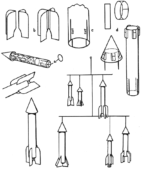 Space Ship Crafts for Kids: Make Toy Space Shuttle Arts