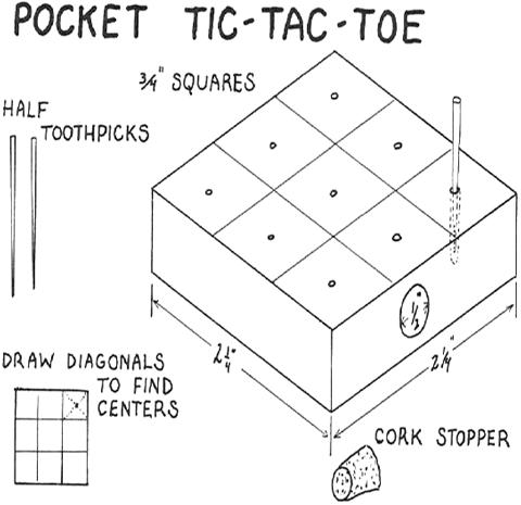 How to Make Pocket Tic-Tac-Toe Wood Craft for Kids