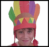 """Native   AmericanFoamie Headdress <span class=""""western"""" style="""" line-height: 100%""""> : American Indians Arts and Crafts Projects for Children</span>"""