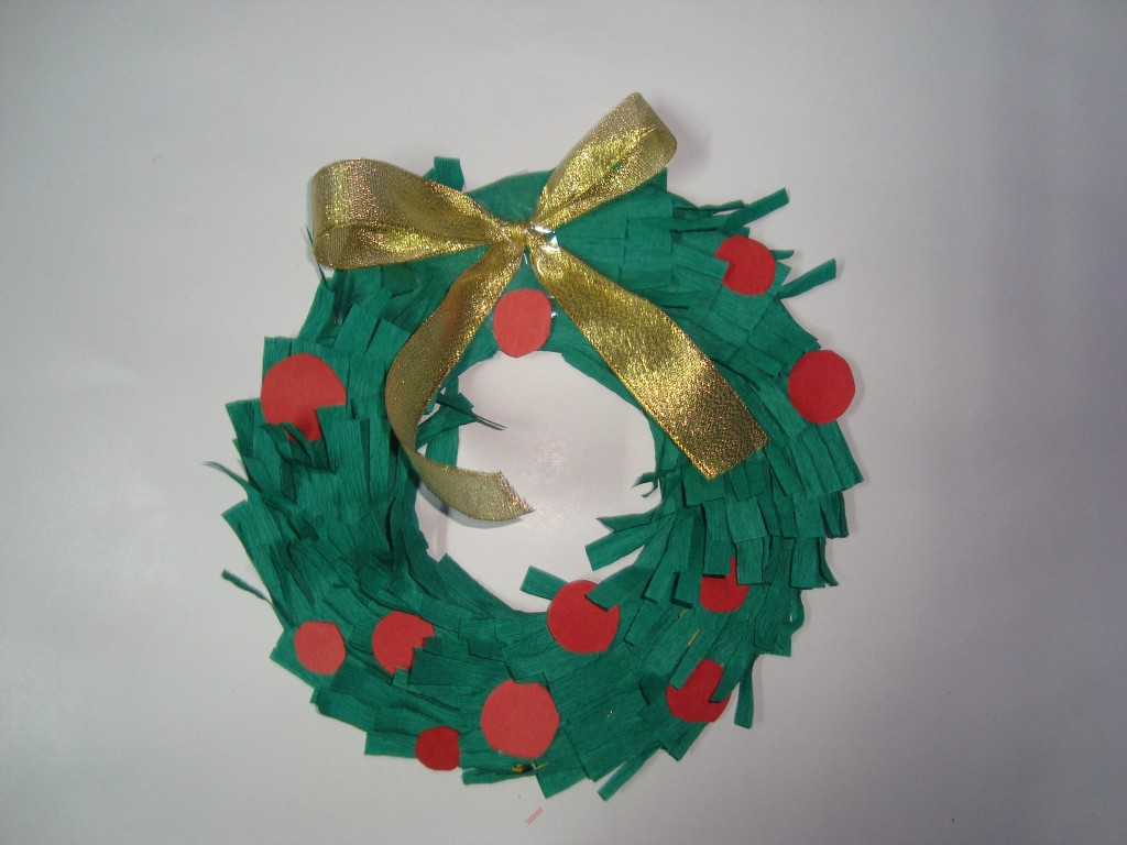Christmas Paper Wreaths Craft For Kids Easy To Make