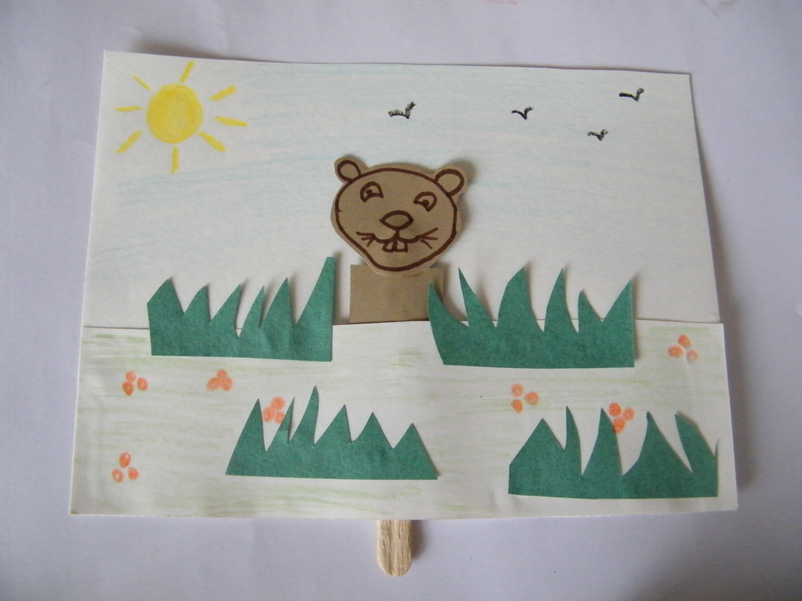 Peeping Groundhogs Craft Activity For Groundhog Day