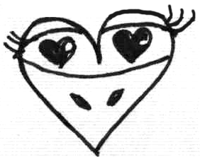 Drawing and Making Cute Animals Out of Hearts for