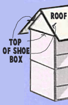 Glue the bottom flap to the box top, and the two other flaps to the underside of the roof section.