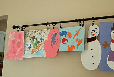 Ideas For Displaying Your Kids Artwork So You Can See Your Fridge Again Kids Crafts