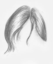 drawing hair beginners graphite