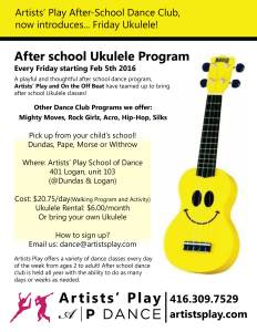 Ukulele Class @ Artists' Play