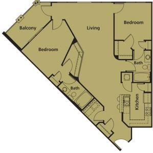 2 Bed / 2 Bath / 1,198 sq ft / Rent: Please Call