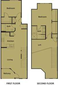 2 Bed / 2 Bath / 1,360 sq ft / Rent: Please Call