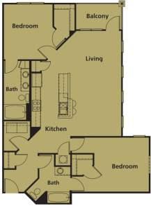 2 Bed / 2 Bath / 1,193 sq ft / Rent: Please Call