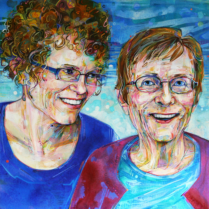 Pat And Eleanor 2011 acrylic on canvas 24 x 24 inches