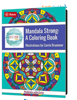 """It's a new """"fad"""" for adults to use coloring books as a strategy for stress-relief. I'm not surprised, not even a little bit. Learn why on Artist Strong"""