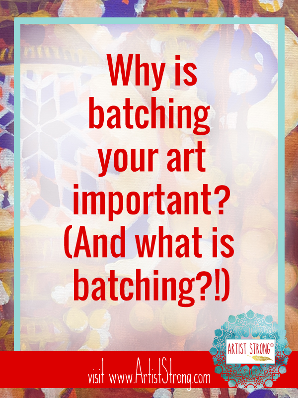 """When artistshear they musthave a unique style to sell or promote their art some argue back: """"Idon't want the restriction of being subject to one style or message."""" Let's talk about batching and how this helps. #mixedmediaart #acrylicpainting #watercolor #watercolour #artiststrong"""