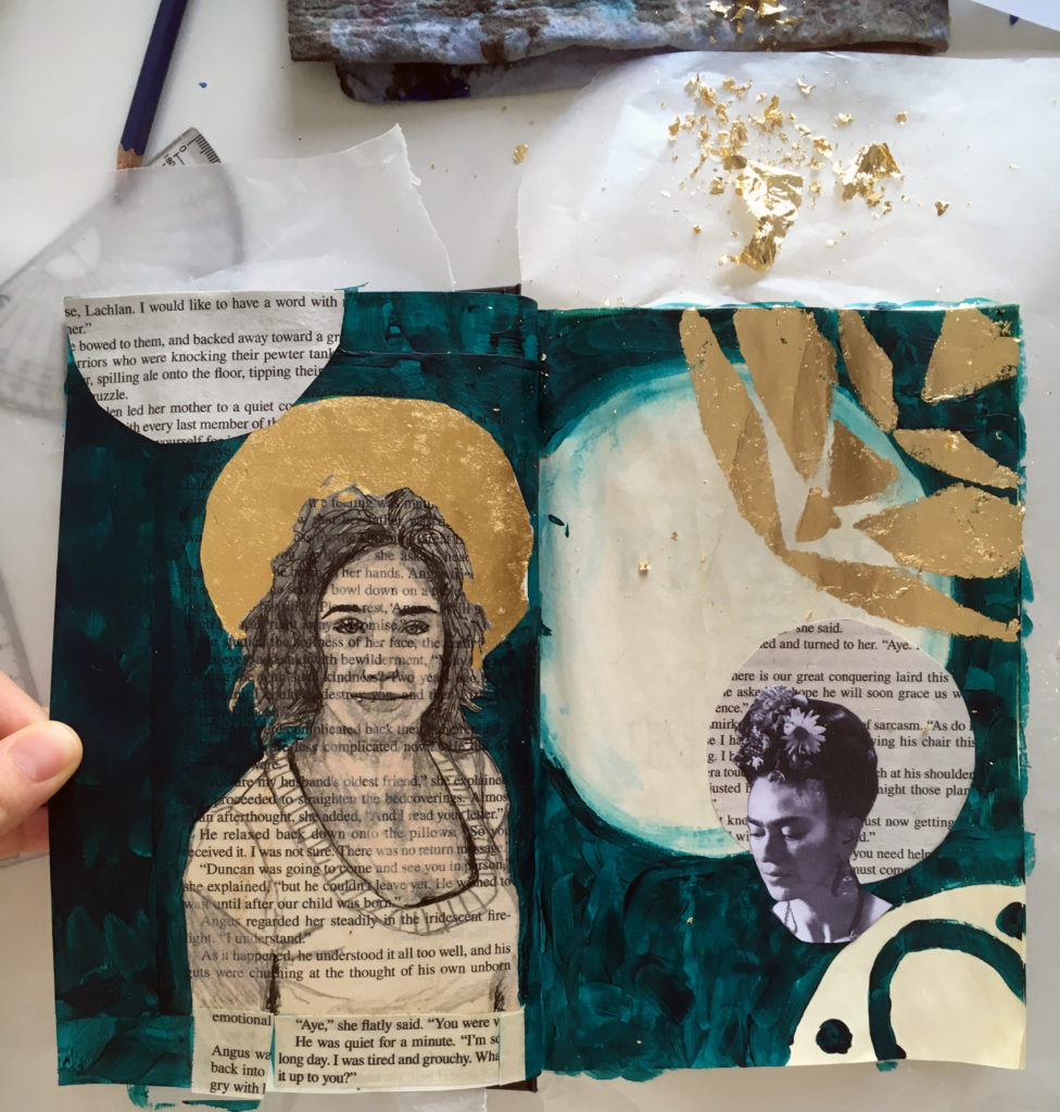 To what degree should you plan and prepare the art you create on the pages of your altered book?