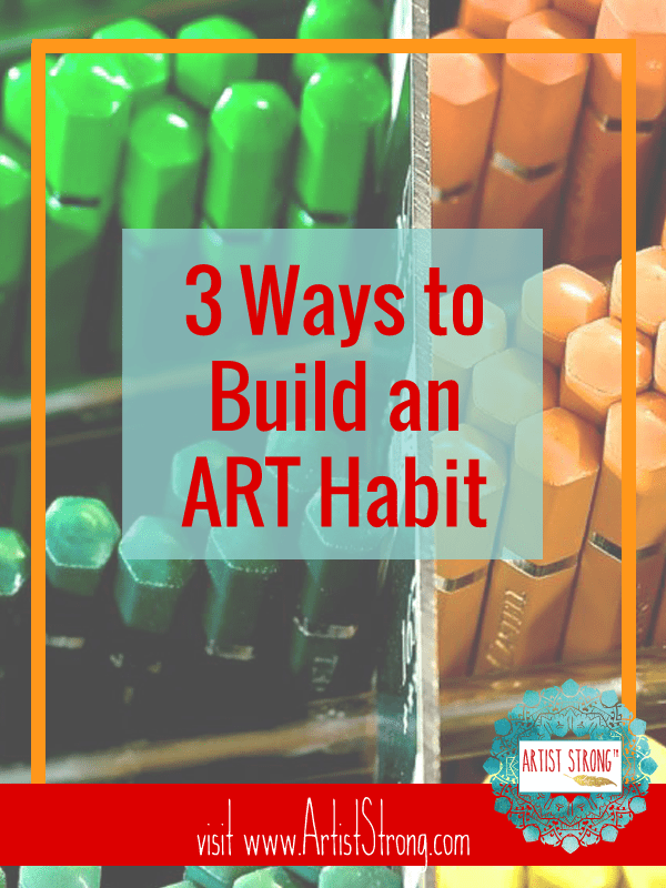 Discover (and own) the three steps you must take to create a regular artist practice.