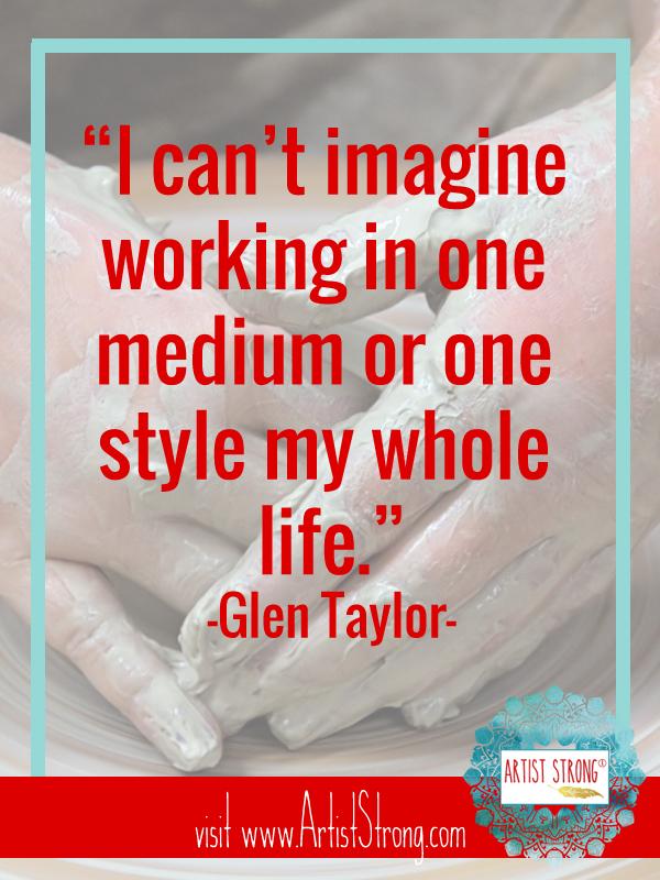 artist Glen Taylor, creative spirit, artist interview, ideas for art, art resources