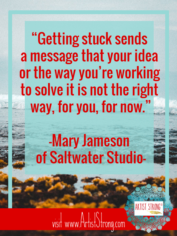 Mary Chatowsky Jameson is the owner of Saltwater Studio in Newport, Rhode Island. She is an artist who explores the marine environment for inspiration in her artwork. Her Marine Botanical pressings and collages are created from seaweed and organic elements collected on excursions primarily throughout the New England coast. Learn more about her unique process in this artist interview here. #artquotes #creativityquotes #artistinterview #artiststrong #mixedmediaartist #mixedmediaart