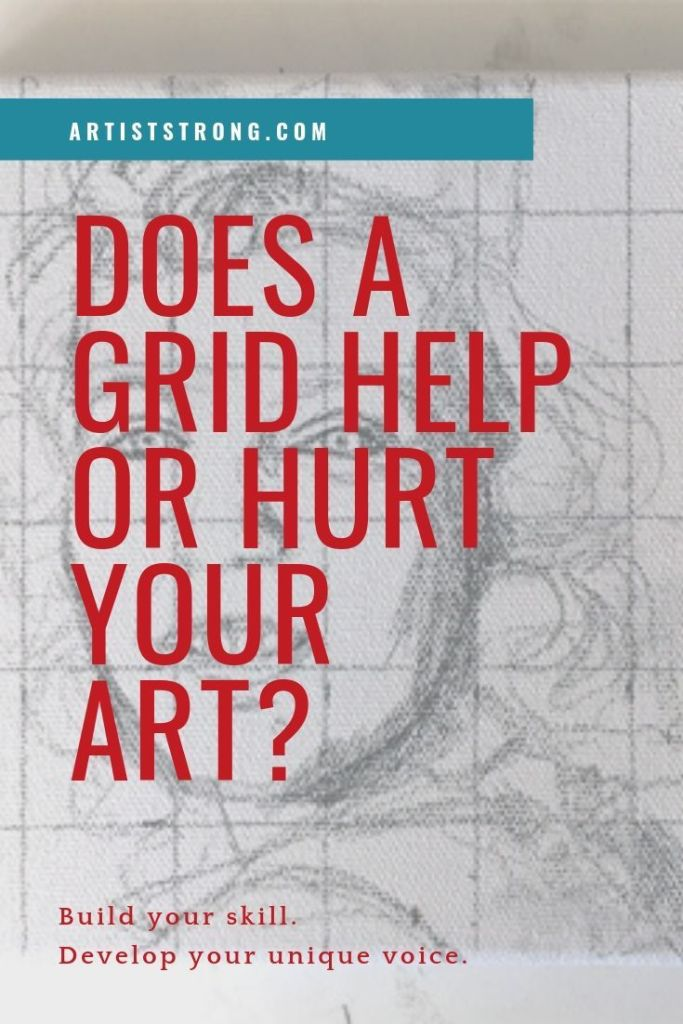 The grid method is a strategy employed by artists to help them create stronger compositions, and capture realistic scenes on their paper or canvas. Some people call it cheating. Some don't. does a grid help or hurt your finished art? #mixedmediaart #artiststrong #painting #portraits #artlessons #artideas #arteducation